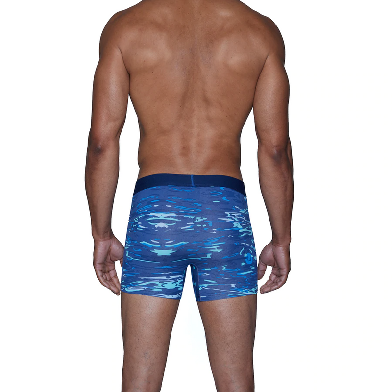 Boxer Brief w/Fly - Blue Liquid