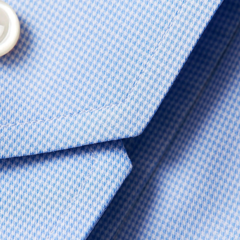 Light blue hounds tooth shirt