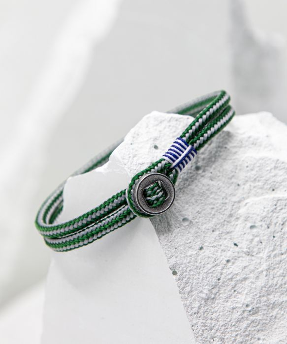 Don Dino Bracelet - Jungle Green/Light Grey