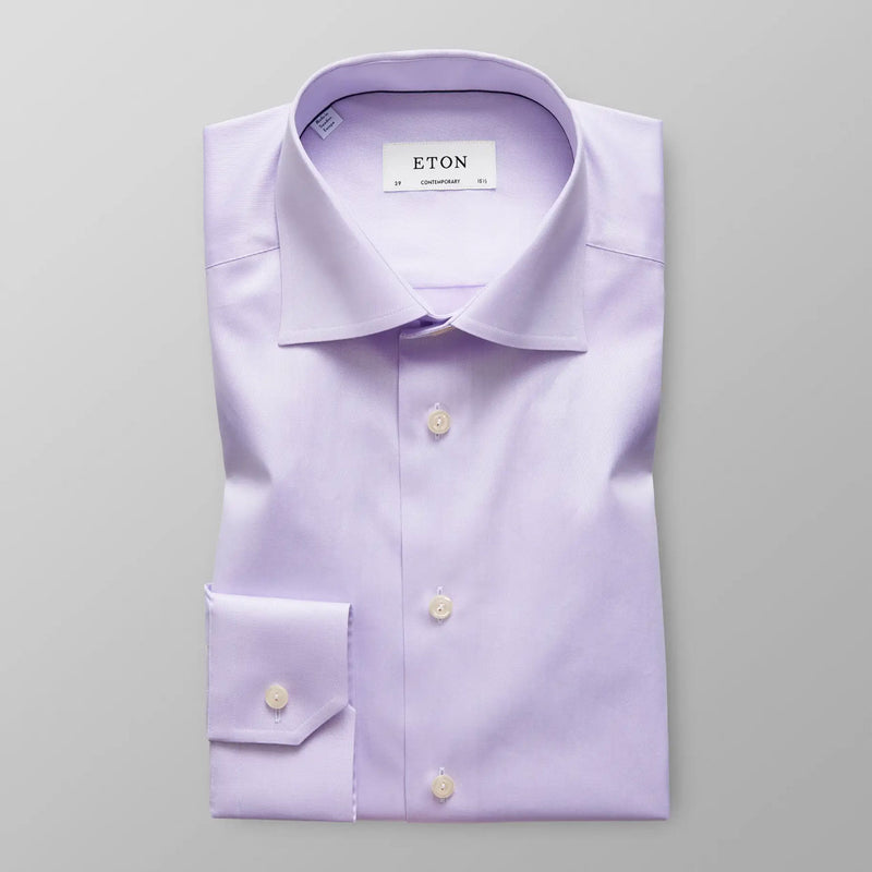 Signature twill purple shirt
