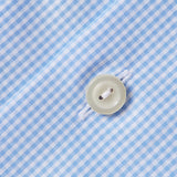 Sky blue check poplin shirt