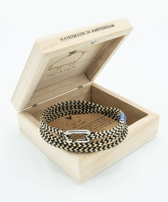 Savage Sam Bracelet - Navy/Sand