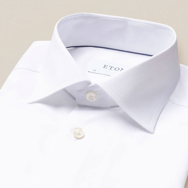 Signature twill white shirt