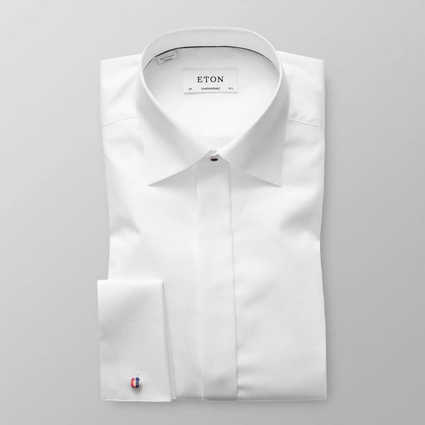 White twill evening shirt