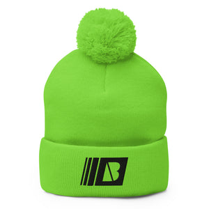 Big Night Breaks Pom-Pom Beanie