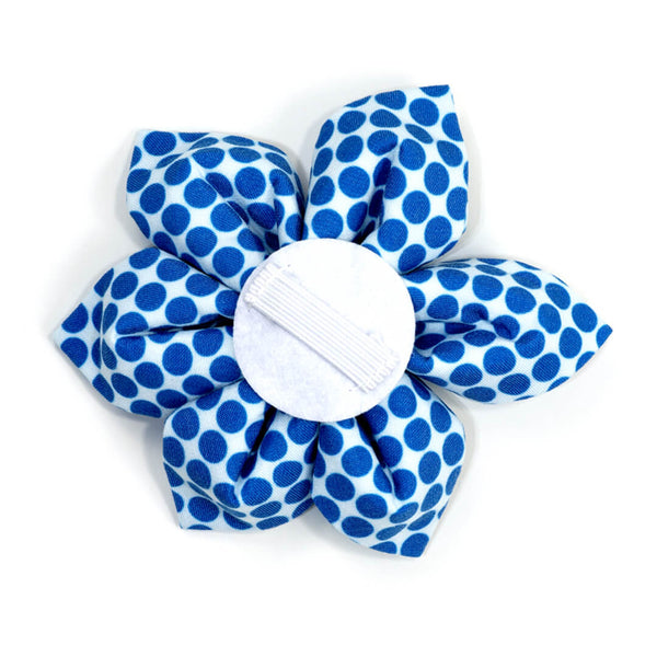 Berry Polka Dot Dog Flower - Waggy Pups