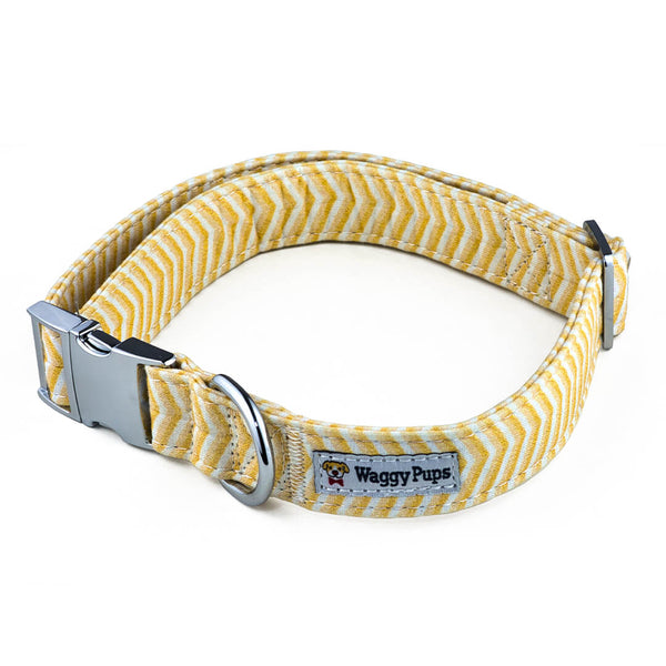 Butterscotch Chevron Dog Collar - Waggy Pups