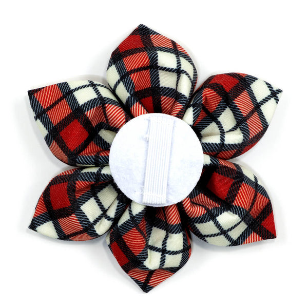 Cranberry Plaid Dog Flower - Waggy Pups