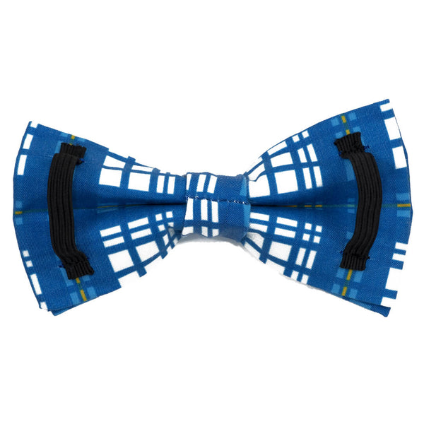 Newport Plaid Dog Bow Tie - Waggy Pups