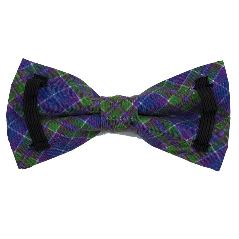 Peacock Plaid Dog Bow Tie - Waggy Pups