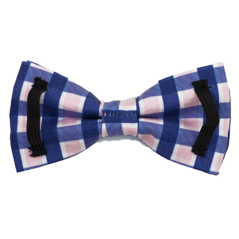Pink Admiral Plaid Dog Bow Tie - Waggy Pups