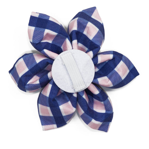 Pink Admiral Plaid Dog Flower - Waggy Pups