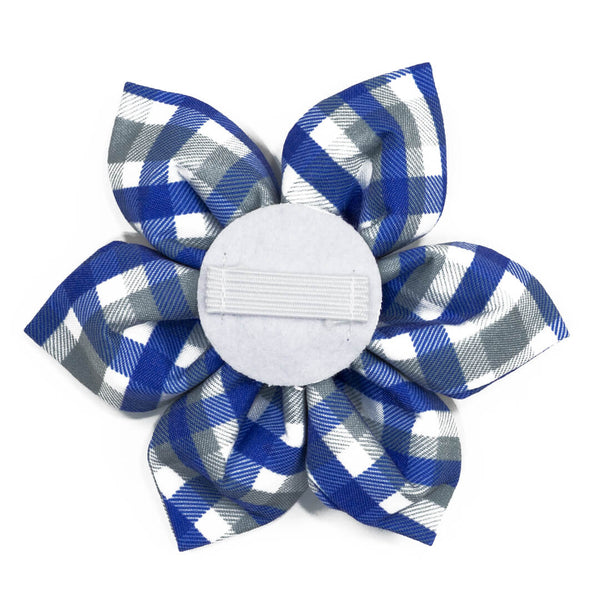 Sapphire Stone Plaid Dog Flower - Waggy Pups