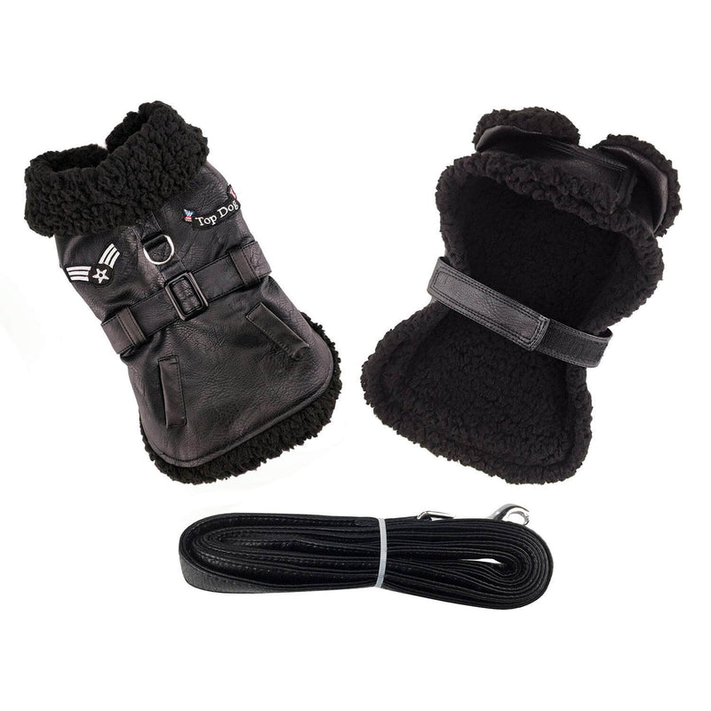Top Dog Classic Bomber Sherpa with Matching Leash - Waggy Pups