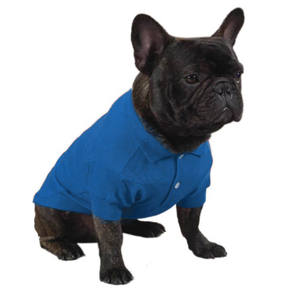 Nautical Blue Dog Polo Shirt