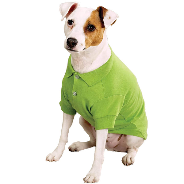 Parrot Green Dog Polo Shirt