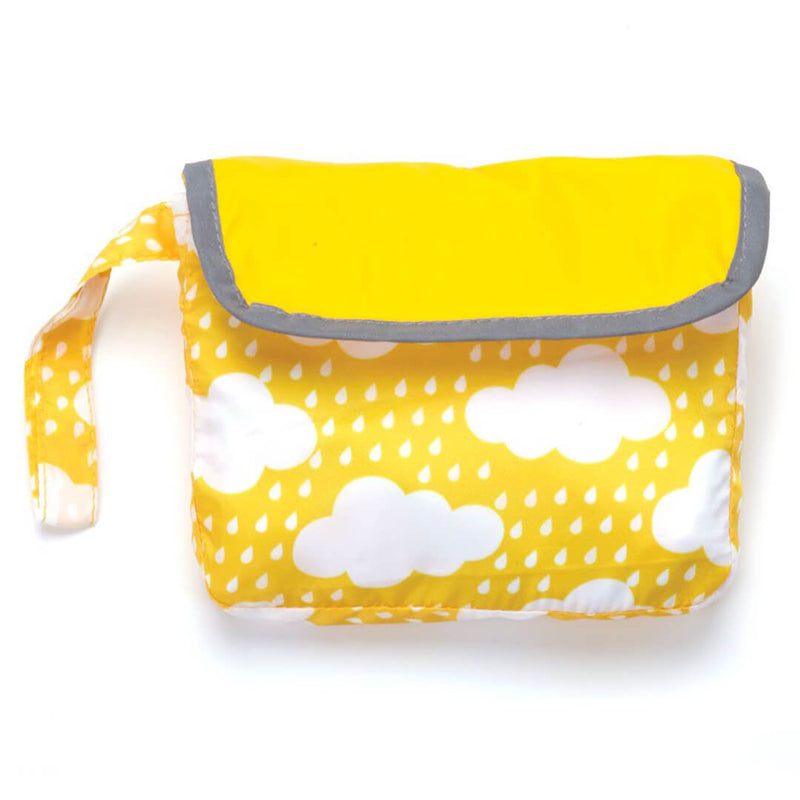 Yellow Clouds Reversible Pocket Dog Raincoat