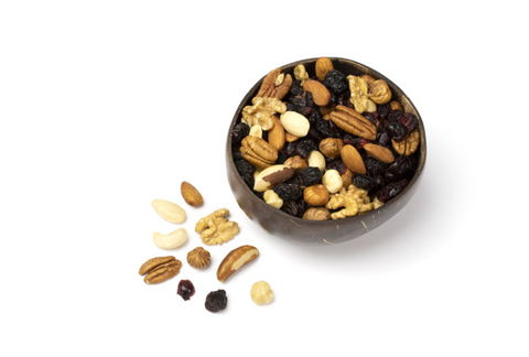 bowl of mixed nuts - protein source for athletes