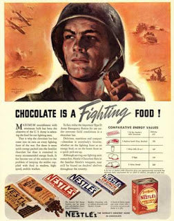 chocolate as sports nutrition - Chocolate in WWII Ad