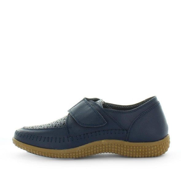 Leather womens shoes - Calina by just bee - just bee comfort - leather womens shoes with a adjustable fastening and a removavle comfort support insole - mulit-fit - womens comfort support insoles (6543654813775)