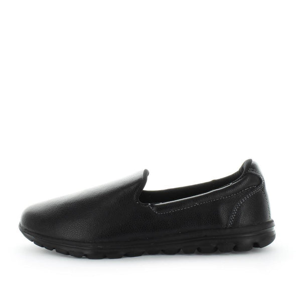 Slip-on style womens shoes by just bee - just bee comfort - leather shoes - leather womens shoes - lightweight shoes - comfort, leather womens shoes featherlite techonology (6543655010383)