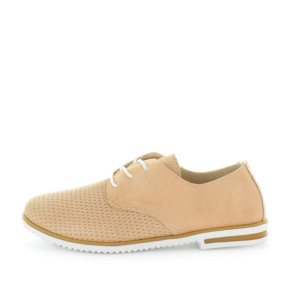 Coronel by Just Bee - Just Bee Comfort  - brogue style shoes with lace-up closure, padded extra comfort footbed and leather materials - womens shoes womens sneakers - womens leather shoes - leather brogues - comfort shoes (4473662898255)