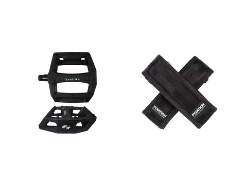 FYXATION GATES PEDAL WITH STRAP KIT - BLACK/BLACK