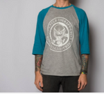 Μπλούζα Cycle Therapy 3/4 Baseball - TEAL/GREY