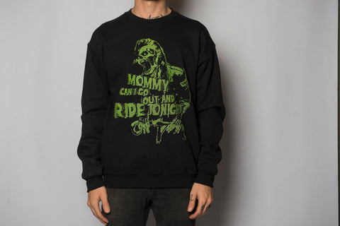 "Μπλούζα Φούτερ ""Mommy, Can i go out and ride tonight?"" Crewneck"