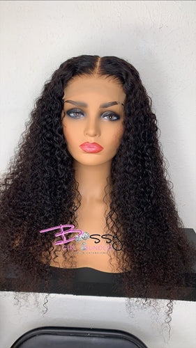"""Bella"" Deep Curly Lace Closure Custom Unit"