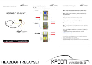 Kroon Premium Porsche 911/912 Headlight Relay Kits - Best-in-Class®