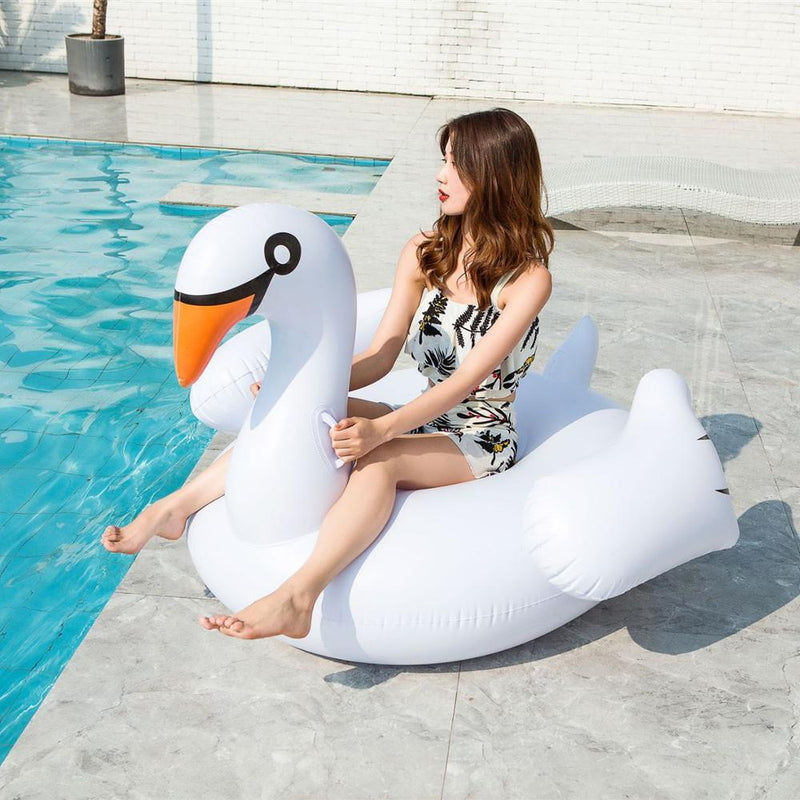 Inflatable Flamingo Or Swan Swimming Pool Float