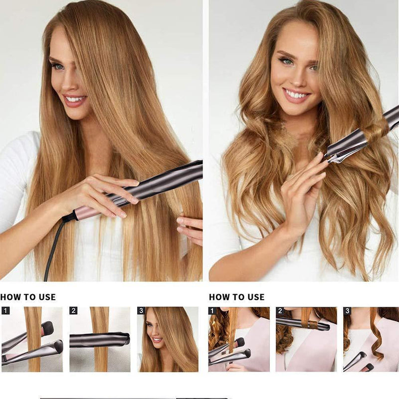 🌟50% off Clearance Sale🌟Automatic Release Negative Ions 2 in 1 Hair Curler and Straightener