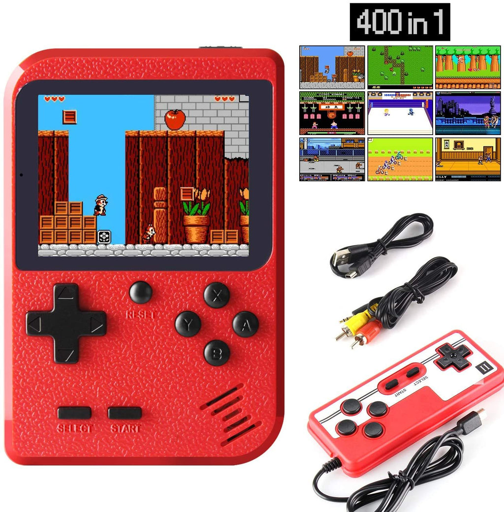 Handheld Game Console, Retro Mini Game Player with 400 Classical FC Games