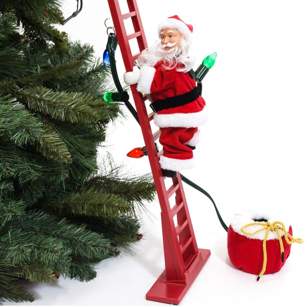 CLIMBING SANTA HOLIDAY DECOR