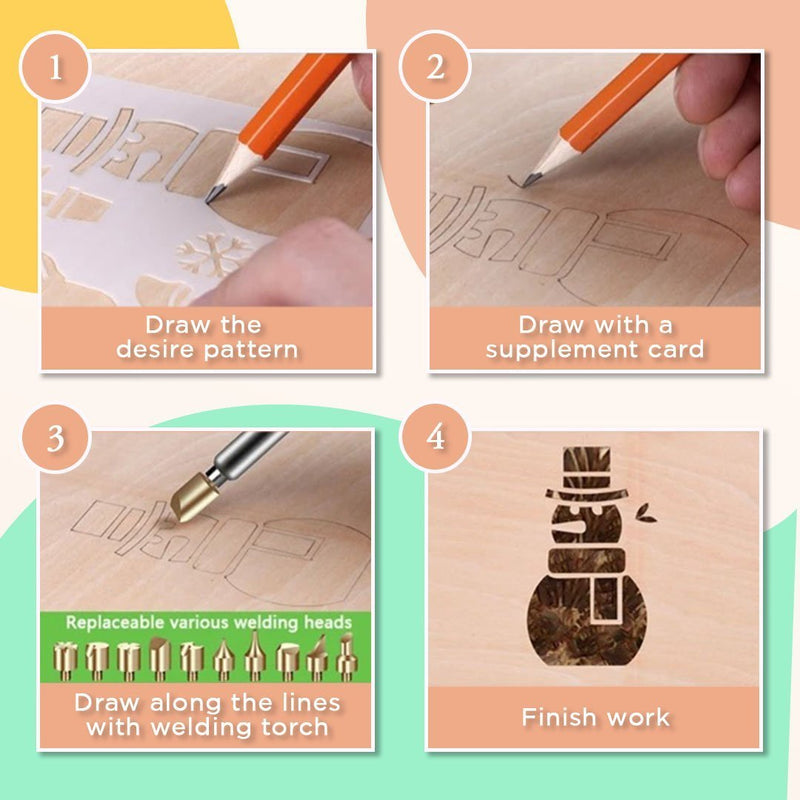 Wood Burning Pyrography Kit (29pcs)