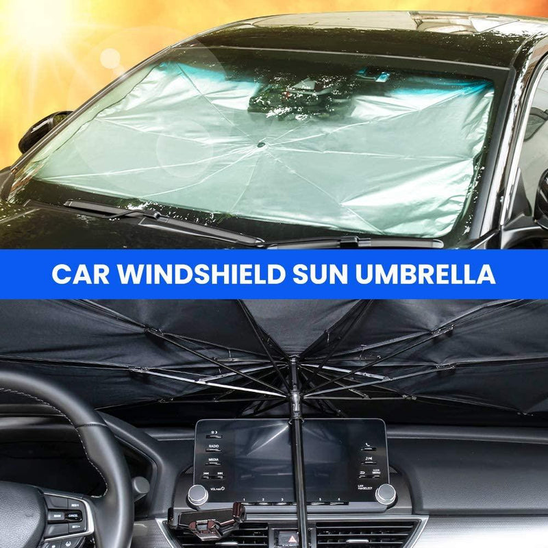 Foldable Car Windshield Sun Shade Umbrella - 56 inch x 31 inch