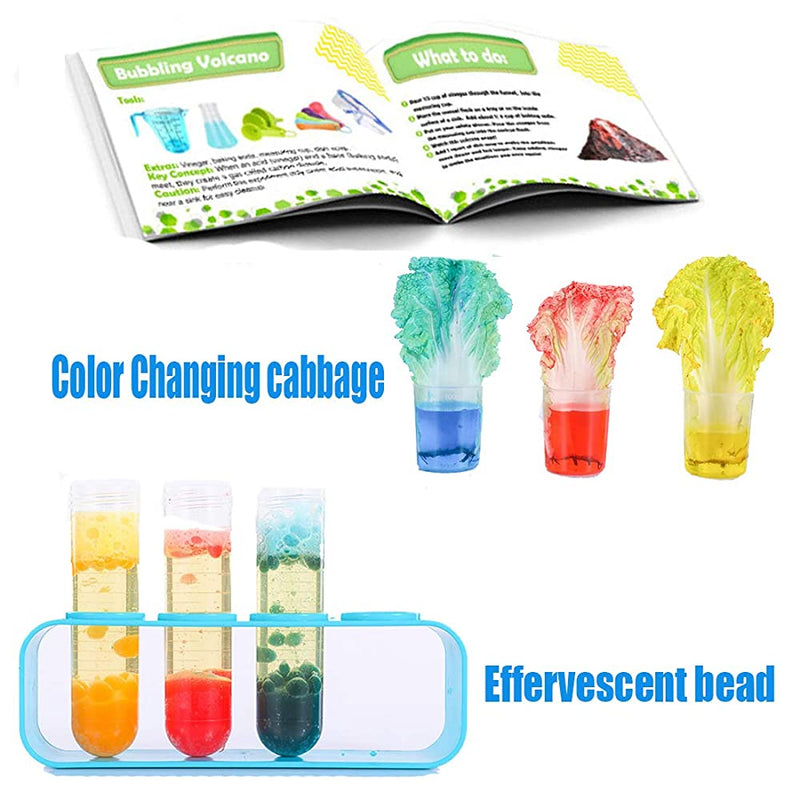 Science Experiment Kit(Free goggles, gloves and Experiment instruction)