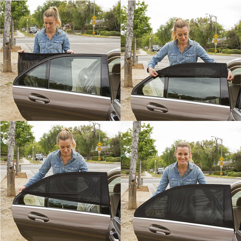 Best Universal Car Window Sun Shade (2 Pcs Pack). Fits all Cars!