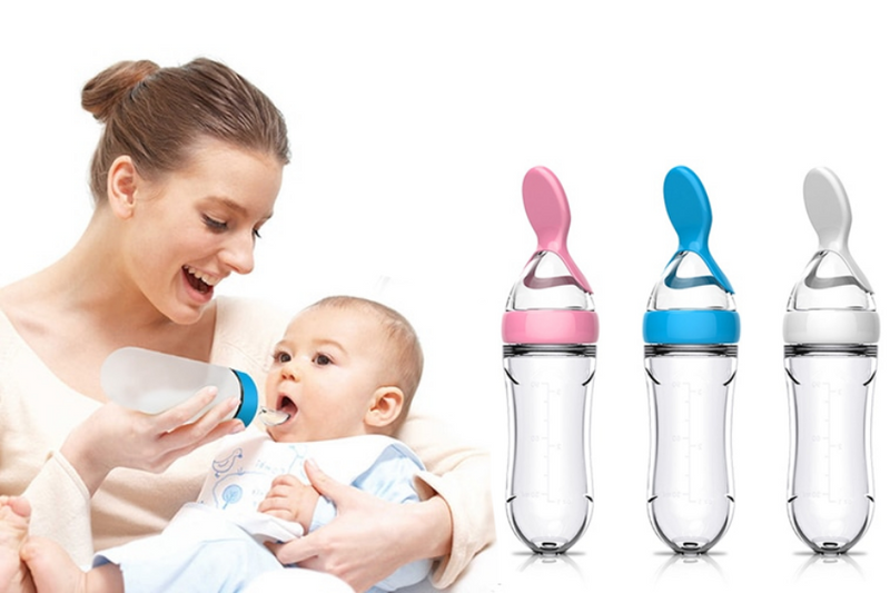 BABY BOTTLE WITH SPOON