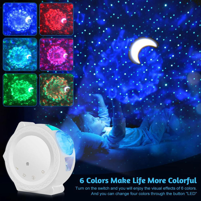 Galaxy Projector 3-in-1 Waving Lights 360 Degree Rotation