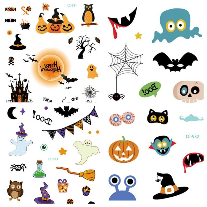 Halloween Waterproof Temporary Tattoo