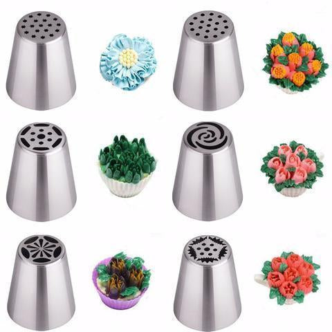 HAPPYBAKES FLOWER NOZZLES™ (SET OF 7!) - Wolrdiscounts
