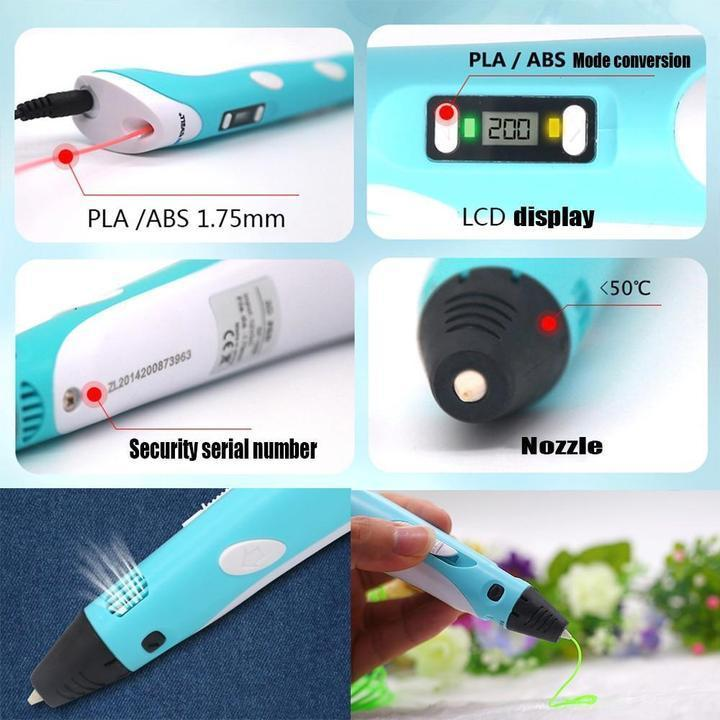 Low Temperature 3D Printing Pen with USB