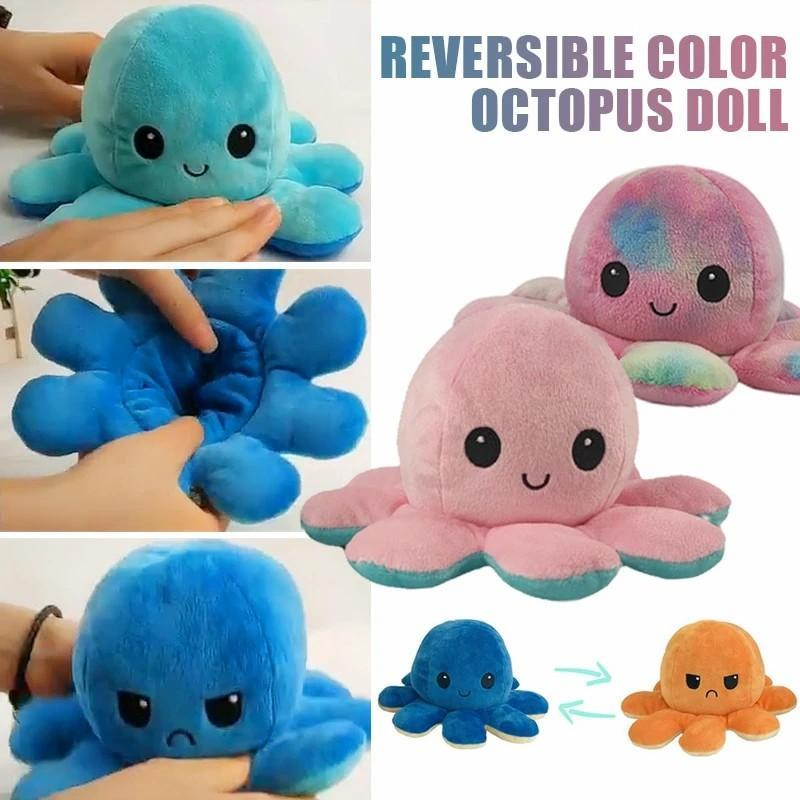 Show your mood without saying a word! - Reversible Octopus Plush