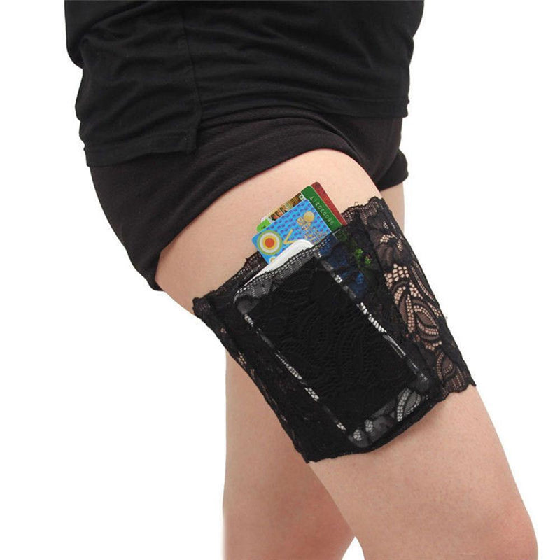 LACE POCKET ANTI-CHAFING THIGH BANDS - Wolrdiscounts