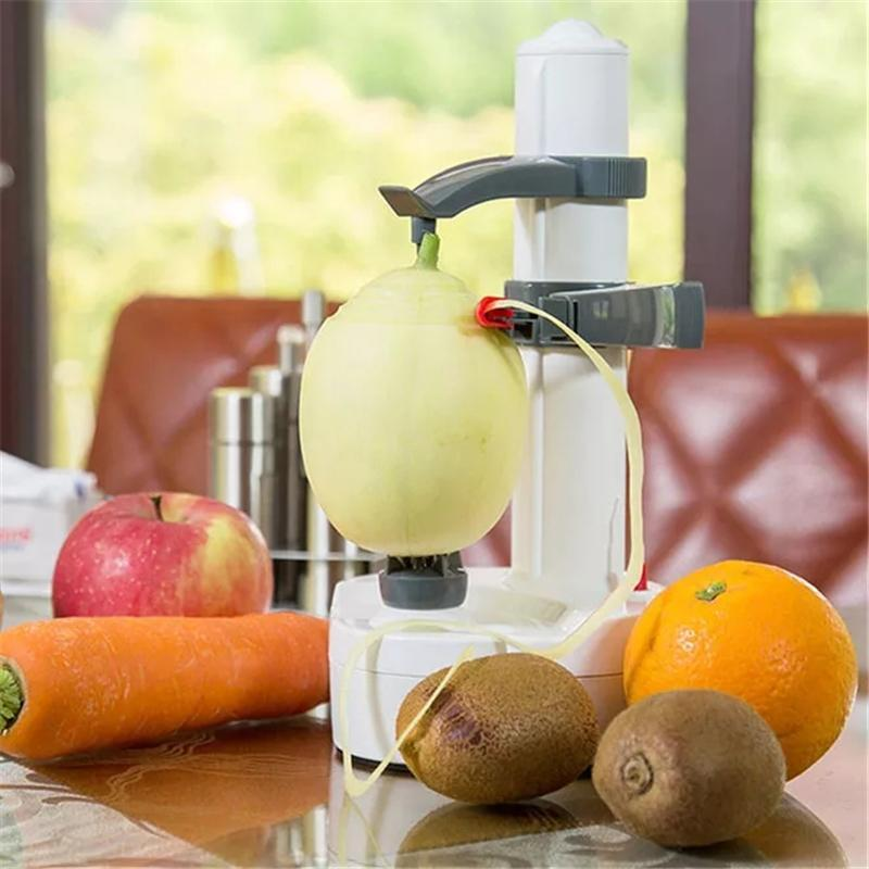ELECTRIC WHITE STAINLESS STEEL FRUIT PEELER