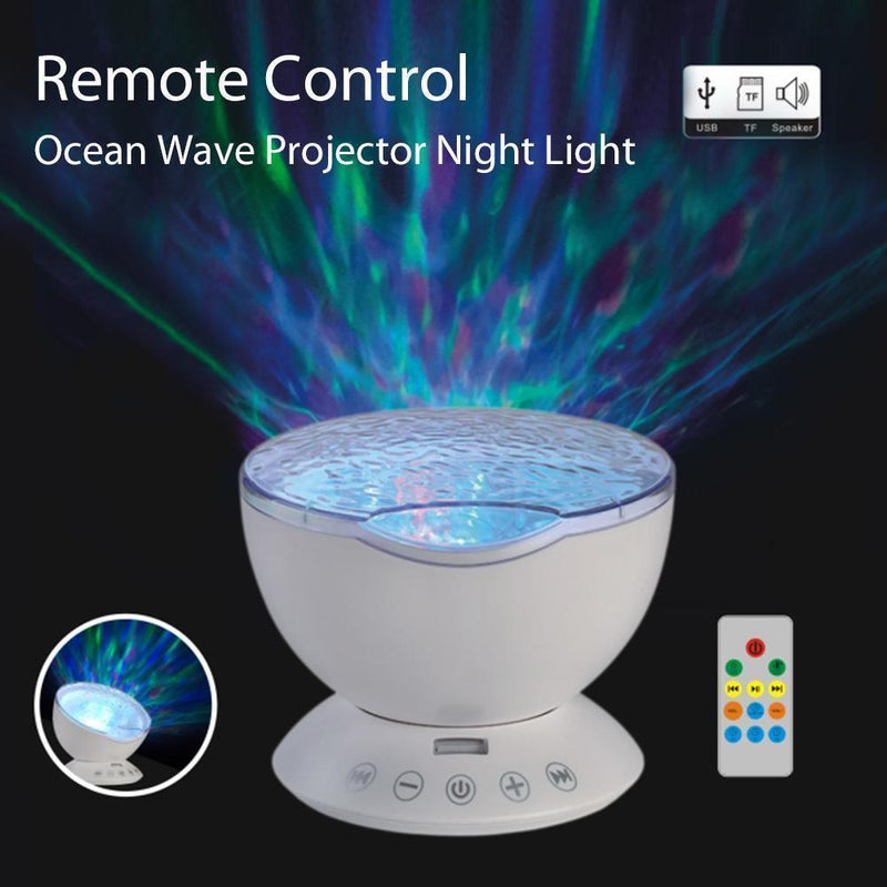 Ocean Wave Music Projector Lamp LED Night Light - Wolrdiscounts