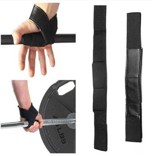 Men Leather Padded Gym Weight Lifting Straps Crossfit Wrist Support Wraps Hand Bar Bodybuilding Strength Power Training Workout