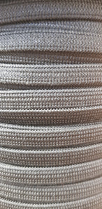 8mm White Elastic Knitted/Weaved 100m